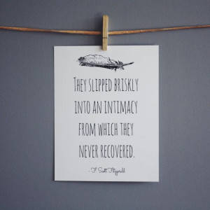 Scott Fitzgerald Print, Literary Quote Typography Print - Black and ...