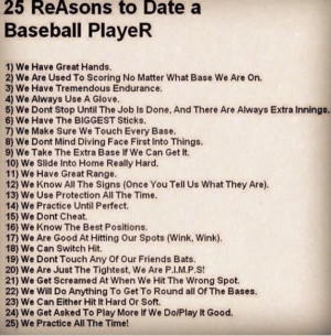 ... Quotes, Girls Love Baseb Players, Girls Baseb Quotes, Baseball Players