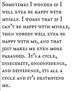 Depression quotes about life insecure quotes