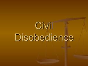 Sun Feb Civil Disobedience...