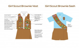 Girl Scout Brownie Vest Badge Placement