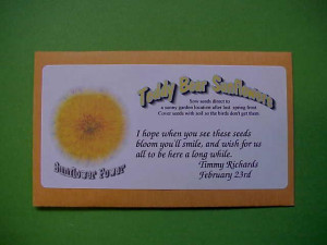 Seed Packet Wedding Favor Sayings