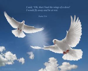 Psalm 55:6 – Like A Dove Papel de Parede Imagem