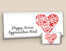 Nurse Appreciation Gifts : Heart of Healthcare Personalized Candy