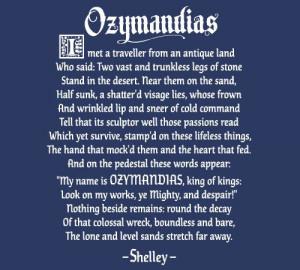 Ozymandias Poem Shelley Breaking Bad T Shirt picture