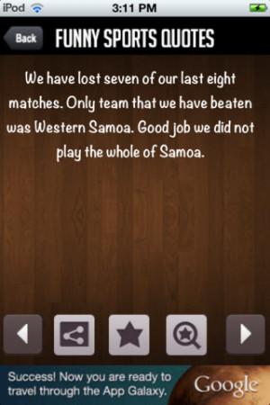 Download FunnySportQuotes iPhone iPad iOS