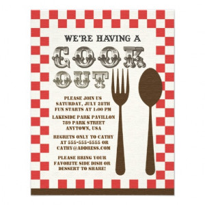 Vintage Cookout Style Invitation from Zazzle.com
