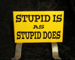 Forrest Gump - Stupid is as Stupid Does ...