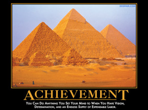 10 – Achievement – You can do anything you set your mind to when ...