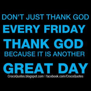 Don't justthank god