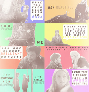 Captain Hook and Emma Swan Captain Swan + quotes