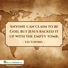 Lee Strobel #God #Jesus #emptytomb More