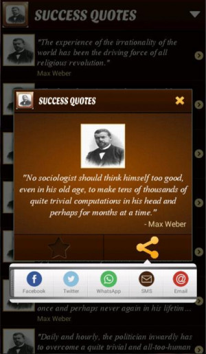 Max Weber Quotes - screenshot