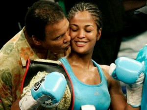 Muhammad and daughter Laila Ali