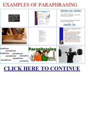 ... paraphrasing.Examples of paraphrasing quotes|EXAMPLES OF PARAPHRASING