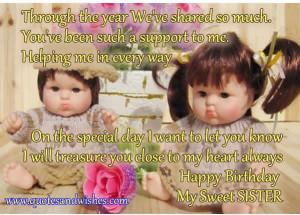quotesandwishes.comHappy Birthday My Sweet SISTER