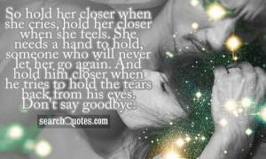 Don't say goodbye