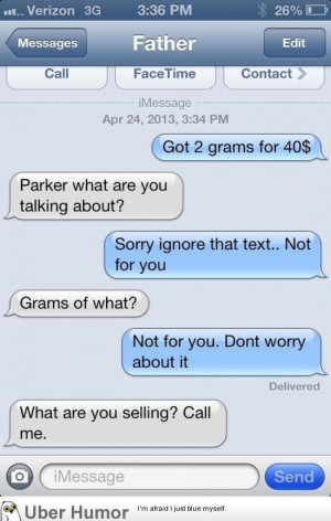 People prank-text their parents pretending to be a drug dealer. (20 ...