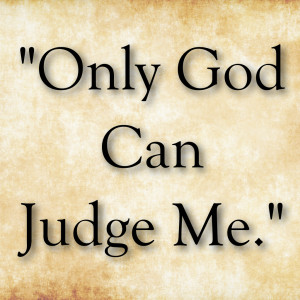 only god can judge me png