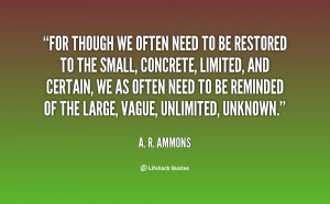 quote A R Ammons for though we often need to be 59837 png