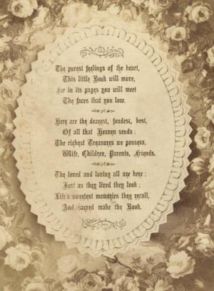 Scrapbook poem.   Scrapbook and Genealogy