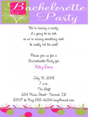 Shop our Store > Cute, Flower Bachelorette Party Invitations