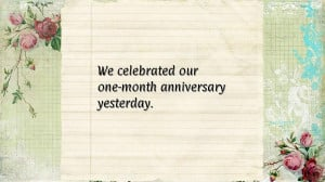 First Anniversary Quotes for Boyfriend