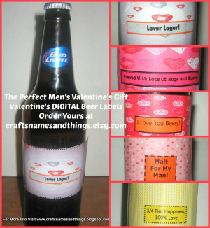 ... Shop Arrivals: Valentine Beer Labels and Valentine Treat Bag Topppers
