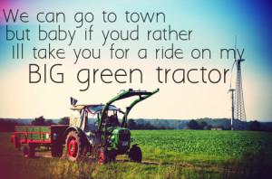 ... big green tractor #tractor #country life #ride #green #john deere