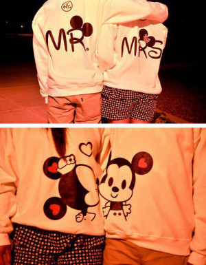 cute, love, mickey mouse, minnie mouse, relationship, shirts