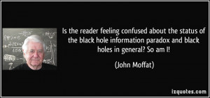 Is the reader feeling confused about the status of the black hole ...