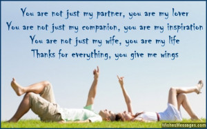 Thank you messages for wife