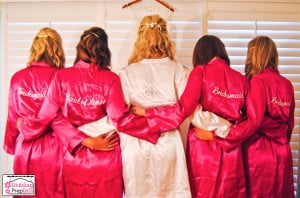 Bridesmaids Getting Ready Robes To wedding party robes.