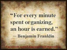 Organizing Quotes -