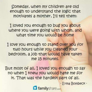 Being a mom .....