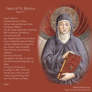 Prayer on the feast day of St. Monica.