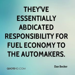 They've essentially abdicated responsibility for fuel economy to the ...