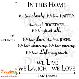 Home » Products » Live Laugh Love Wall Quote (Long)