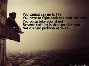 Fighting Alone Quotes Quotesgram
