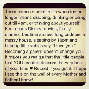 Point In Life When Fun No Longer Means Clubbing, Drinking Or Being ...