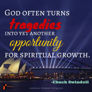 """... another opportunity for spiritual growth. """" – Chuck Swindoll quote"""