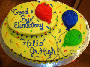 6th grade graduation my neice wanted a cake for her 6th grade ...