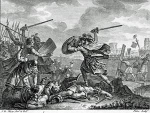 Publius Horatius Cocles and Two Companions Defend Tiber Bridge by ...