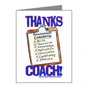 Baseball Gifts > Baseball Thank You Cards & Note Cards > Thanks Coach ...
