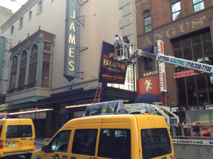 ... the Bullets Over Broadway website , with previews starting in March