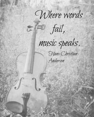 Where Words Fail Music Speaks Art Print