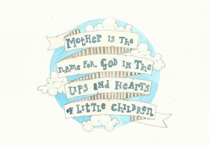Mother Quote Blue Sky Clouds Nursery by FeatherAndSixpence on Etsy, £ ...