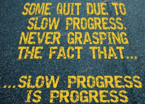 ... Progress: Quote About Some Quit Due To Slow Progress ~ Daily