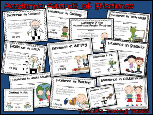 Academic Awards for Elementary Students