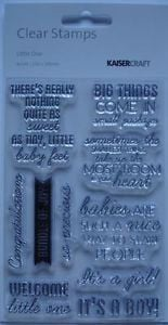 ... Little One ~ Baby Girl & Boy Quotes Words STAMP SET Scrapbooking Card